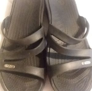 Crocs slide on sandals